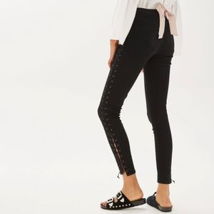 TopShop Laceup jeans